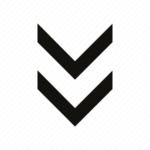 chevron, double icon