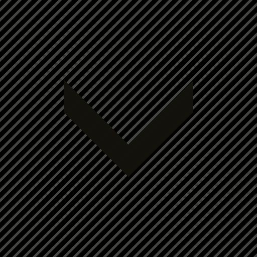 big, chevron, medium icon