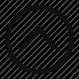 chevron, circle, medium icon