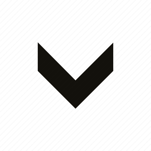 chevron, fat, medium icon