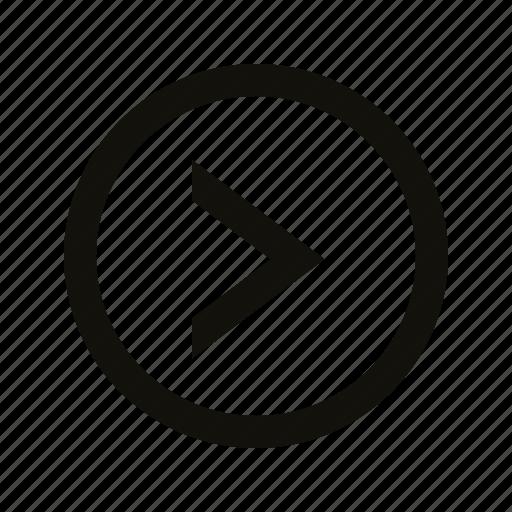 chevron, circle icon