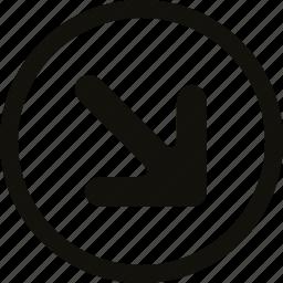 big, circle icon