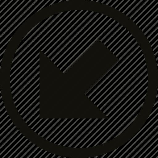 big, circle, straight icon