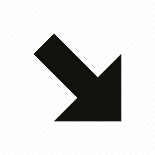 medium, straight icon