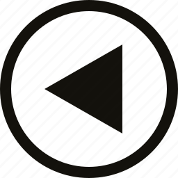big, circle, triangle icon