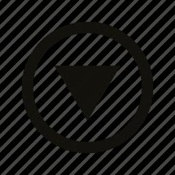 circle, medium, triangle icon