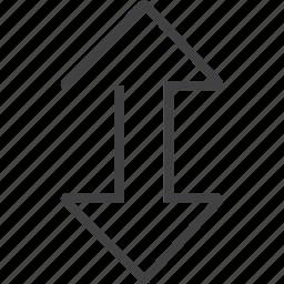 arrow, moving icon