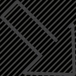 arrow, circle, moving icon