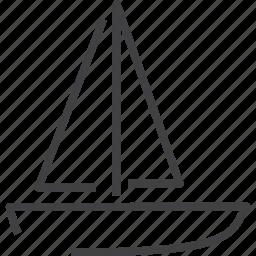 boat, nautical, ocean, transport icon