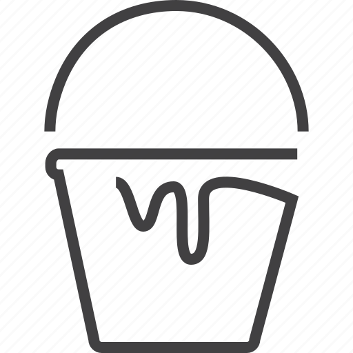 battery, bucket, can, empty, icream, paint, remove, trash icon