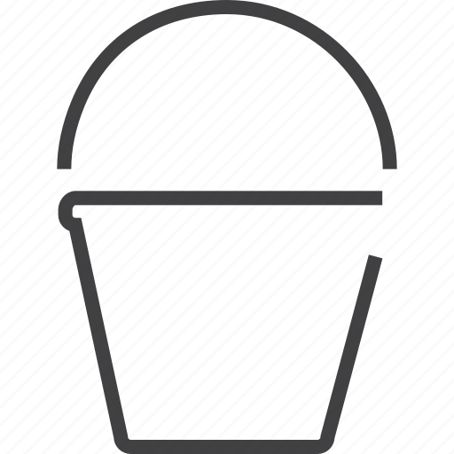 bucket, fill, graphic, icream, justify, painting icon