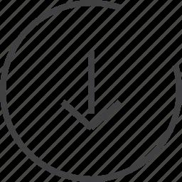 arrow, basic, next, web icon