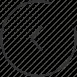 arrow, communication, connection, internet, media, play, seo, stop, web icon