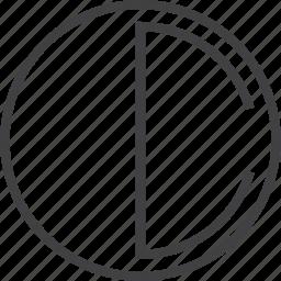 comtrast, energy, half, lunar, solar system icon