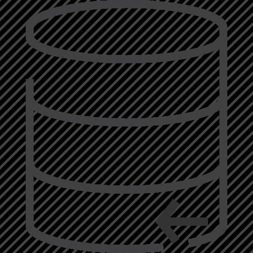 communication, connection, data, database, left icon