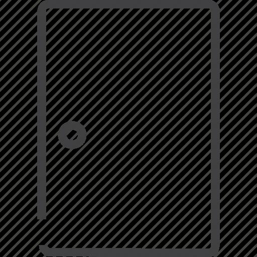 door, entrance, login, profile, sign icon