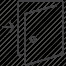 door, entrance, exit, login, out icon