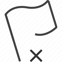 delete, document, flag, remove, sheet icon