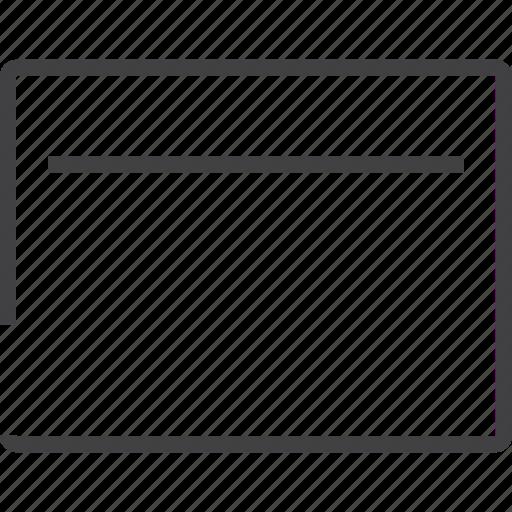 basic, frame, navigation, panel, tile, yellow icon