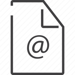 document, email, envelope, extension, file, letter icon