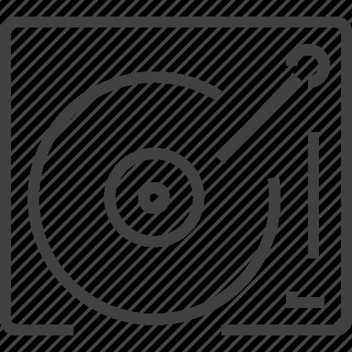 entertainment, film, record, recording, sound, turntable icon