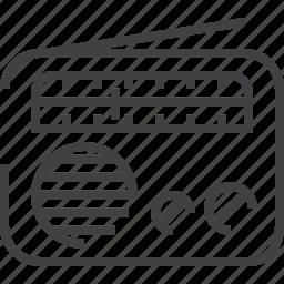 audio equipment, listening, media, music, radio, sound icon