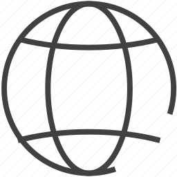 connection, globe, sphere icon