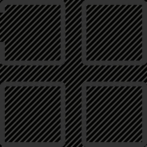 multimedia, player, square, squared icon