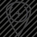 thumbtack, locator map, location, add, straight pin, thumbpin, pin, map, sticky