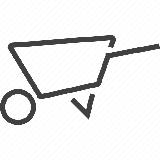 process, steering, system, trolley, wheeibarrow, wheel icon