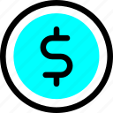 bank, banking, cash, coin, currency, money, payment icon