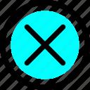 cancel, close, delete, exit, remove, sign, stop icon