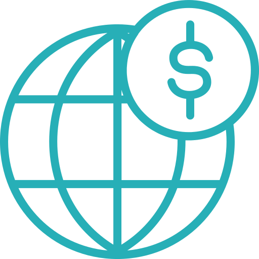 business, finance, global, money, seo, work icon