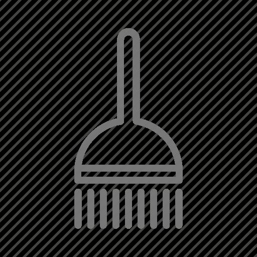 bristles, broom, brush, clean, cleaning, sweep, wash icon