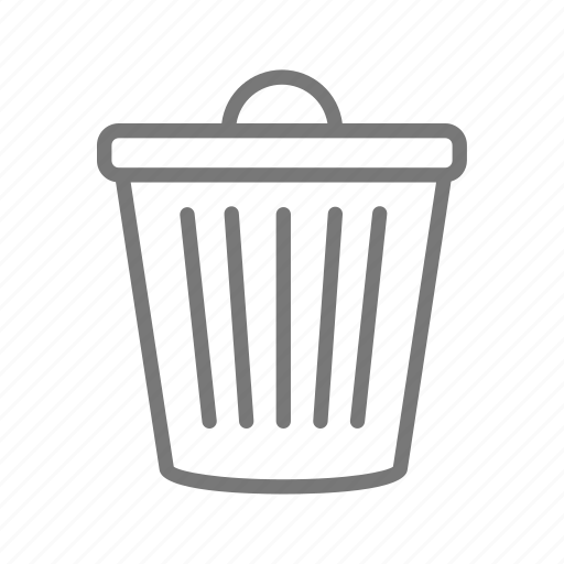 bin, can, clean, garbage, throw away, trash icon