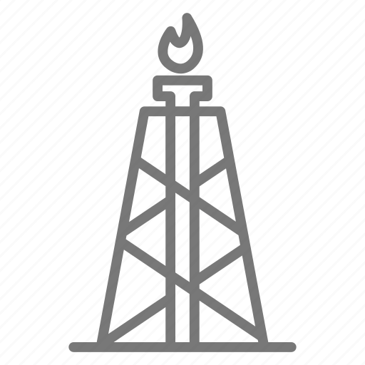 drill, electricity, energy, gas, natural, power, well icon