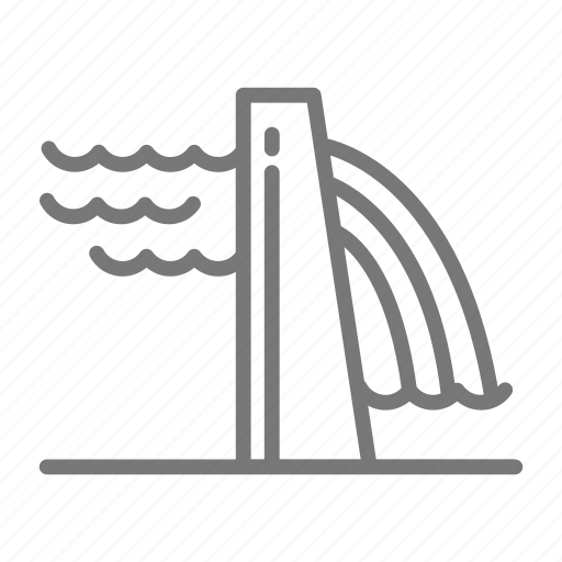 dam, electricity, energy, hydro, power, river, water icon