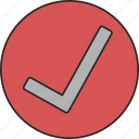 check, list, ok, okay, success, verified, verify icon