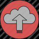cloud, computing, database, online, online storage, storage, upload icon