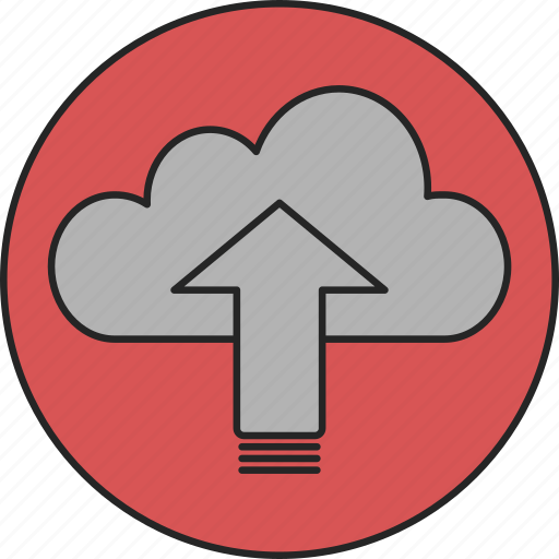 cloud, computing, database, online, online storage, storage, upload icon