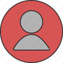 account, avatar, contact, human, person, profile, unisex icon