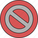 block, forbidden, no, no way, stop icon