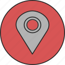 direction, gps, location, map, maps, navigation, pointer icon
