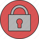 lock, locked, padlock, privacy, protection, safety, security icon