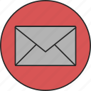 communication, contact, email, envelope, letter, mail, message icon