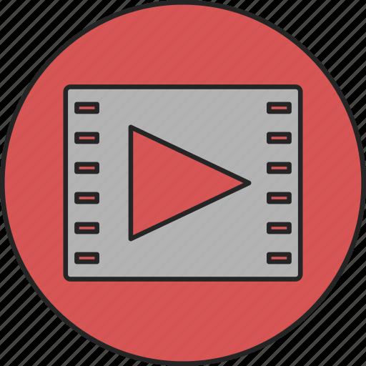 cinema, film, movie, multimedia, play, player, video icon