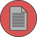 document, layout, notes, page, paper, text icon