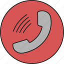 call, calling, phone, speak, speaking, talk, telephone icon