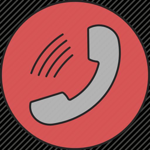 call, calling, phone, speak, speaking, talk, telephone icon