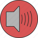 audio, music, noise, sound, speaker, volume icon